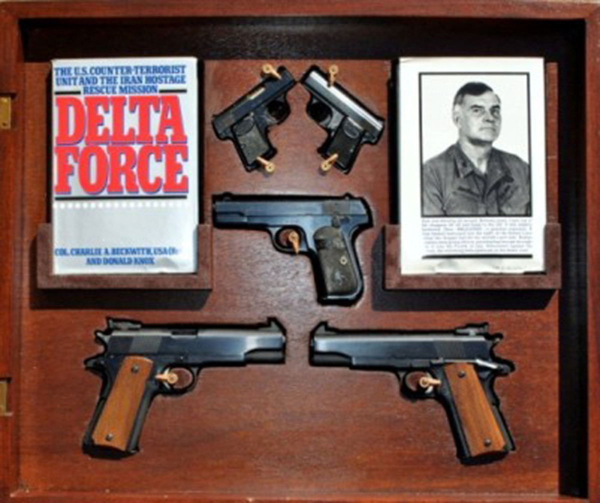 Ed's personal collecting philosophy is to collect, curate, conserve and preserve the finest military artifacts he can acquire with emphasis on rare historical objects and groupings. Col. Charlie Beckwith's (Delta Force founder and first commanding officer) personal gun collection falls into this category quite nicely!