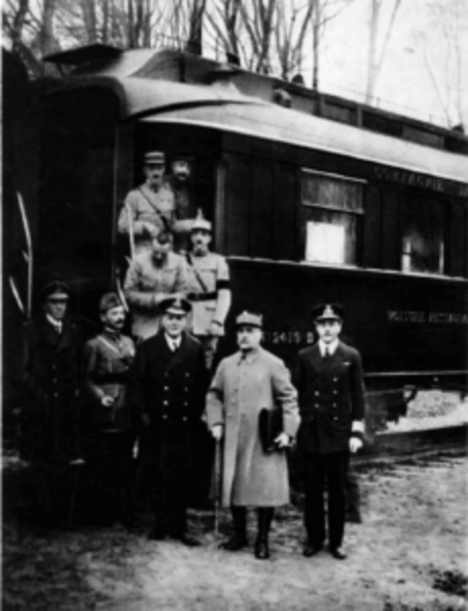 History was made aboard French railcar no. 2419D on November 11, 1918, when the Allies and Germany signed an armistice ending the fighting on the Western Front.