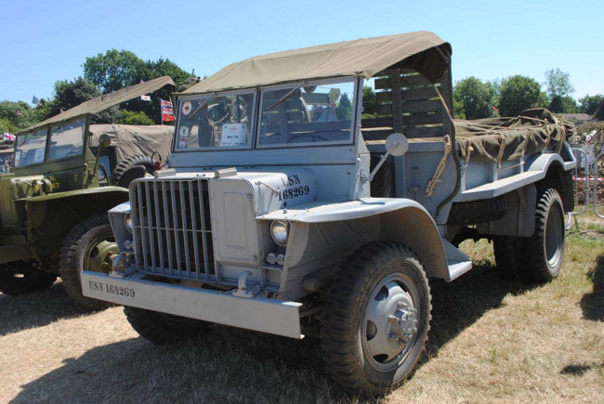 A US Navy Burma Jeep in 'Ocean Gray' color scheme.