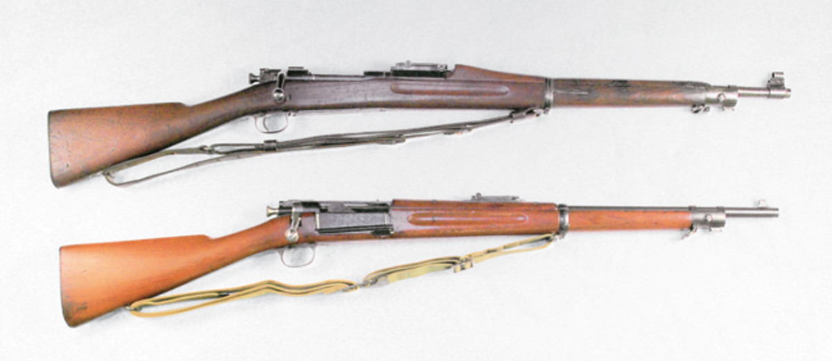 The US Model 1903 (top) was the last type issued to the Constabulary along and is shown with only known PC rifle.
