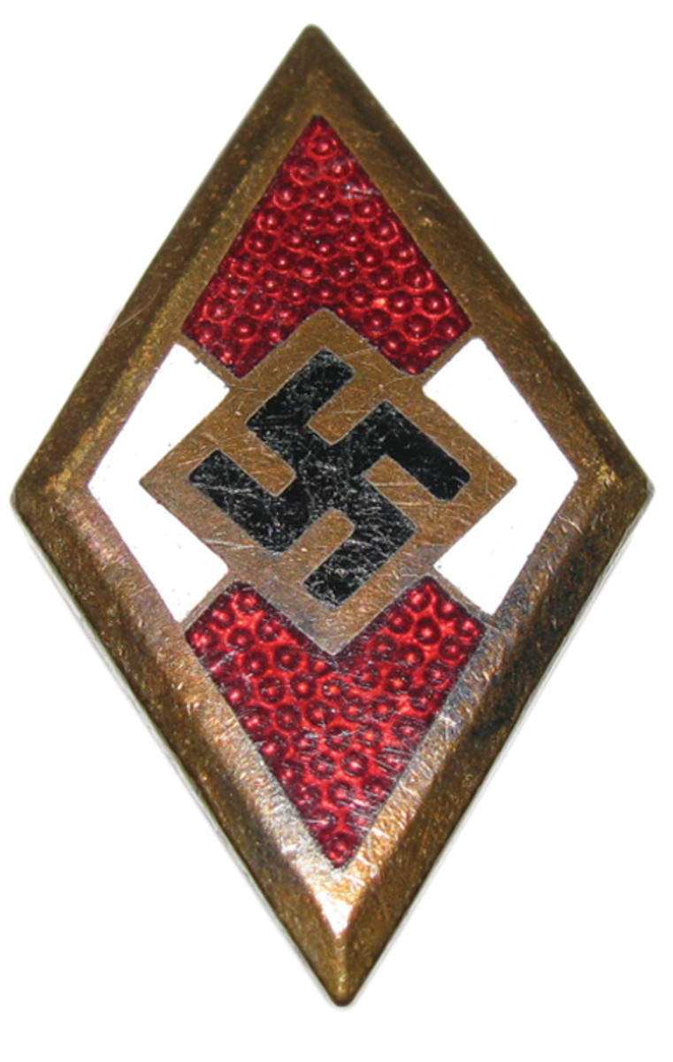 After receiving his golden Hitler Youth Honor Badge for 5 years of faithful service, Wiese joined the Schutzstaffel Totenkopf- verbände (SS-TV) on July 1, 1938. Courtesy of Mark Pulaski