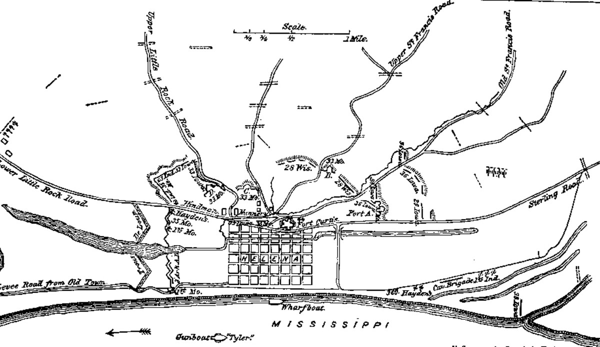 Map drawn by 1st Lt. F. Sommer, Acting Engineer, from the Official Records of the War of the Rebellion.