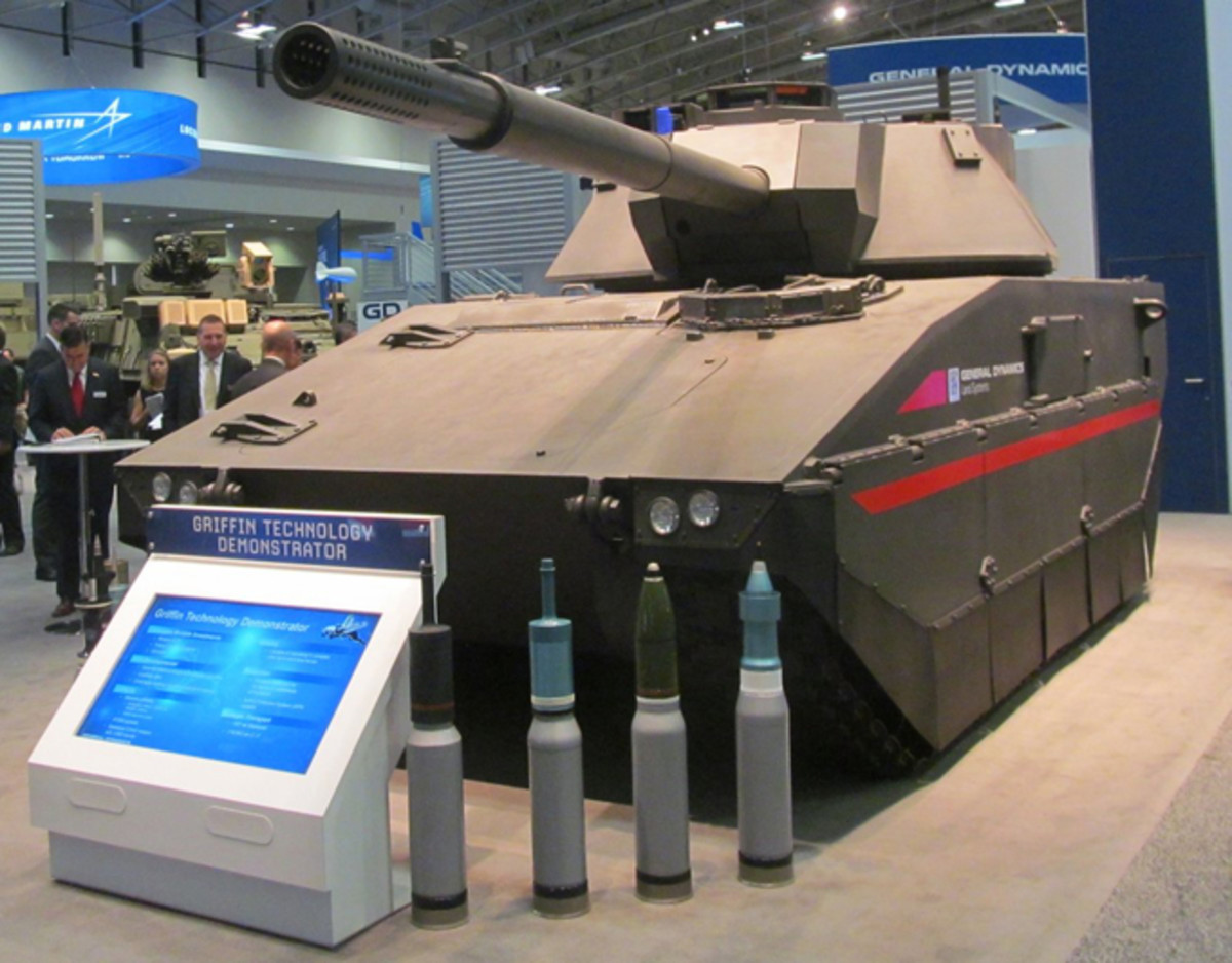 General Dynamics has presented it's new Griffin light tank technology demonstrator at the Annual Symposium of the US Army (AUSA) 2016.