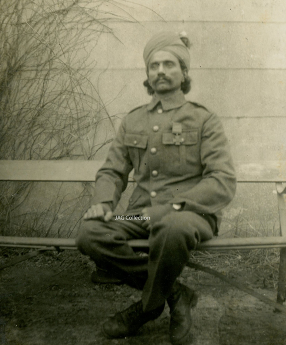 Sepoy Khudadad Khan, 129th Duke Connaught's own Baluchis, was the first Indian—and Muslim—to be awarded the Victoria Cross.