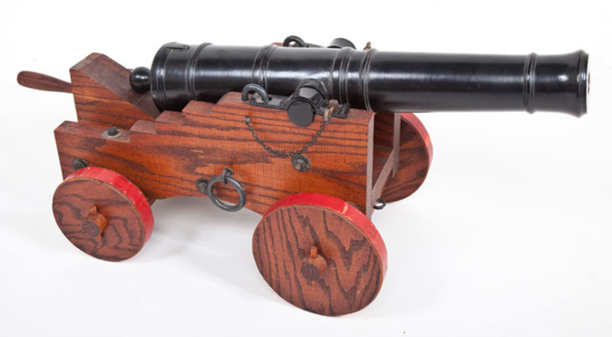 Late 1700's Replica of a Full Scale 1 Pound Naval Cannon ($2,000-3,000)