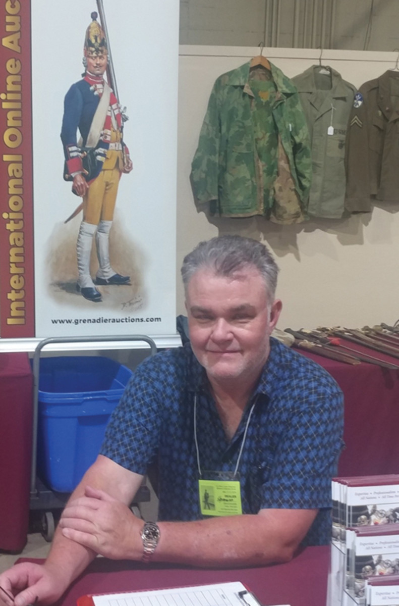 Bruce Hermann is co-owner of Grenadier Military Antiques Auctions (grenadierauctions.com), an online auction company based in Long Beach, California.