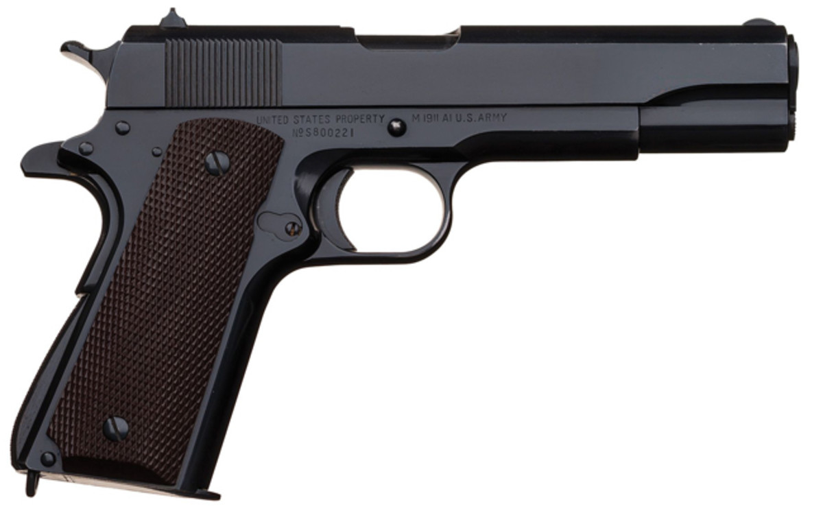 U.S. Singer Manufacturing Co. Model 1911A1 Semi-Automatic Pistol with Two Extra Magazines and History