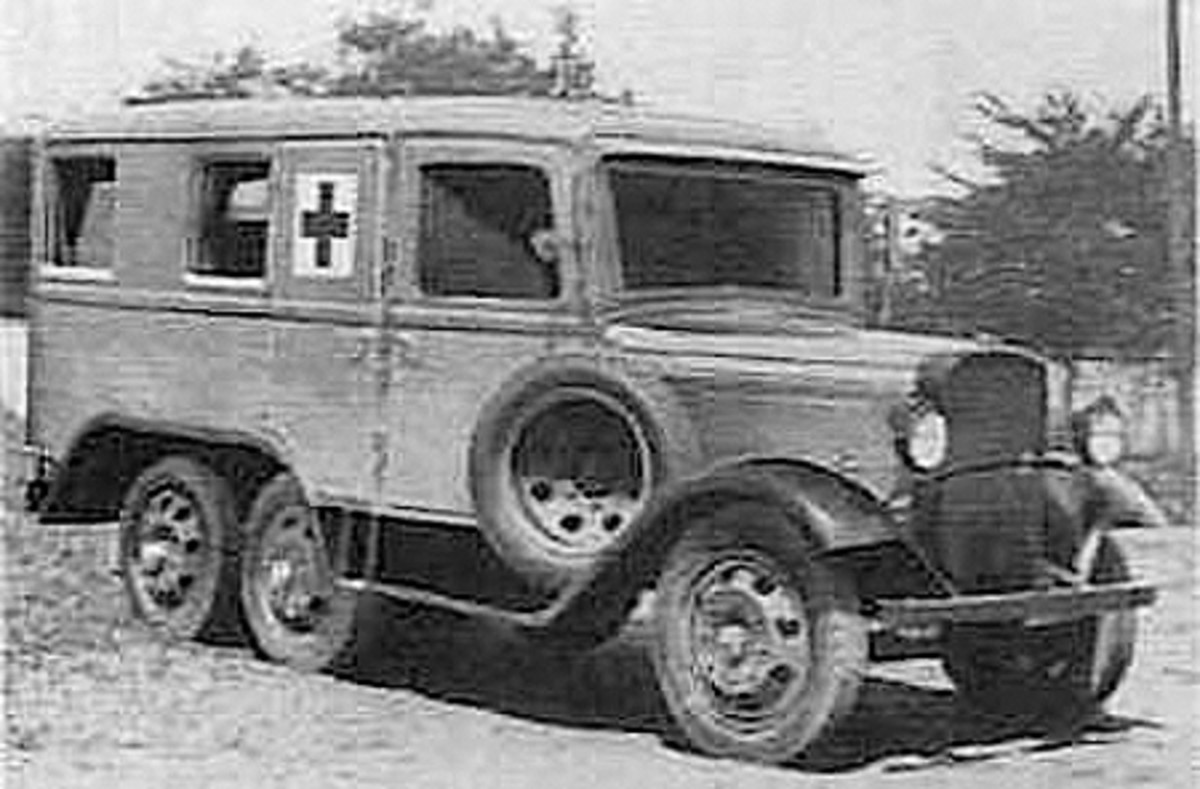 Although Japan did not honor the Geneva Rules Of Engagement, it was not adverse to using them for its advantage, such as protecting its own wounded combatants as evidenced by this Isuzu Type 94 ambulance.