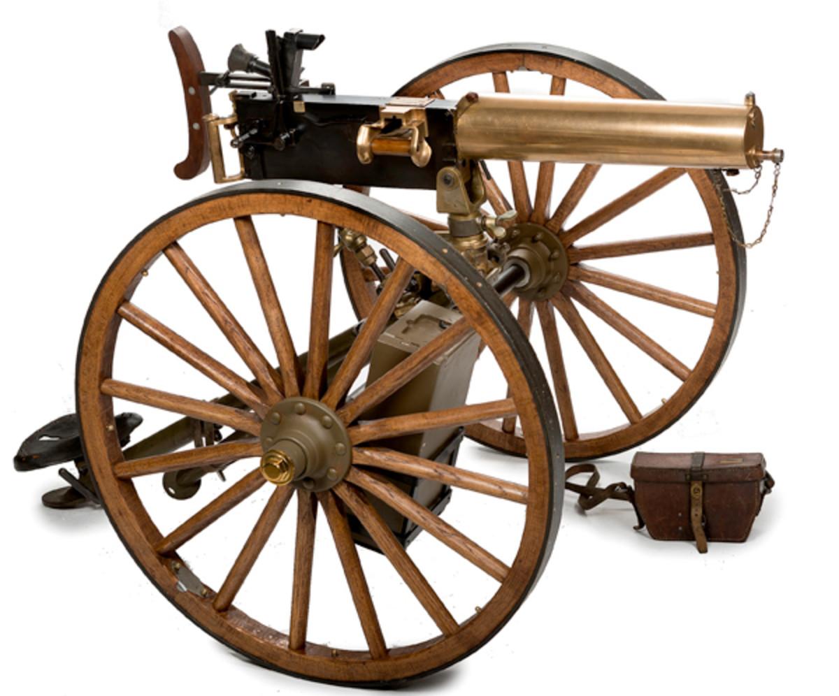 Argentine Brass Maxim Machine Gun - sold for $46,000.