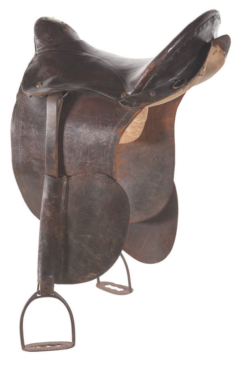 A historic saddle presented to Teddy Roosevelt in lot 1295 found a new home for $51,750.