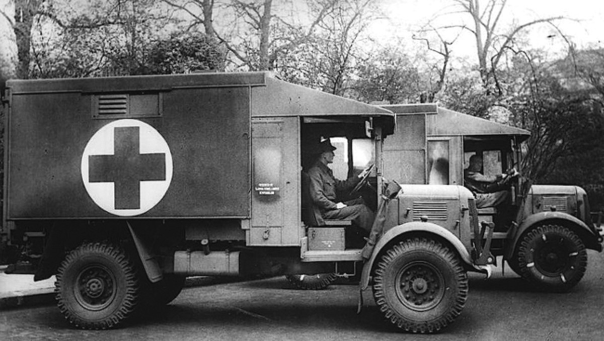 The Austin K2/Y ambulance, nicknamed Katy, was used by all the Commonwealth services during World War Two, and was based on the civilian Austin K30. The K2/Y was also used in the Korean Conflict.