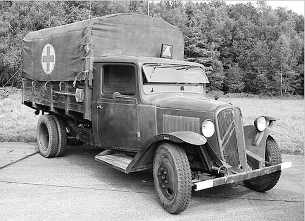 The Type 23 was a 2-ton truck introduced by Citroën in 1936 and produced in large numbers for the French Armed Forces. Many were converted to ambulances.