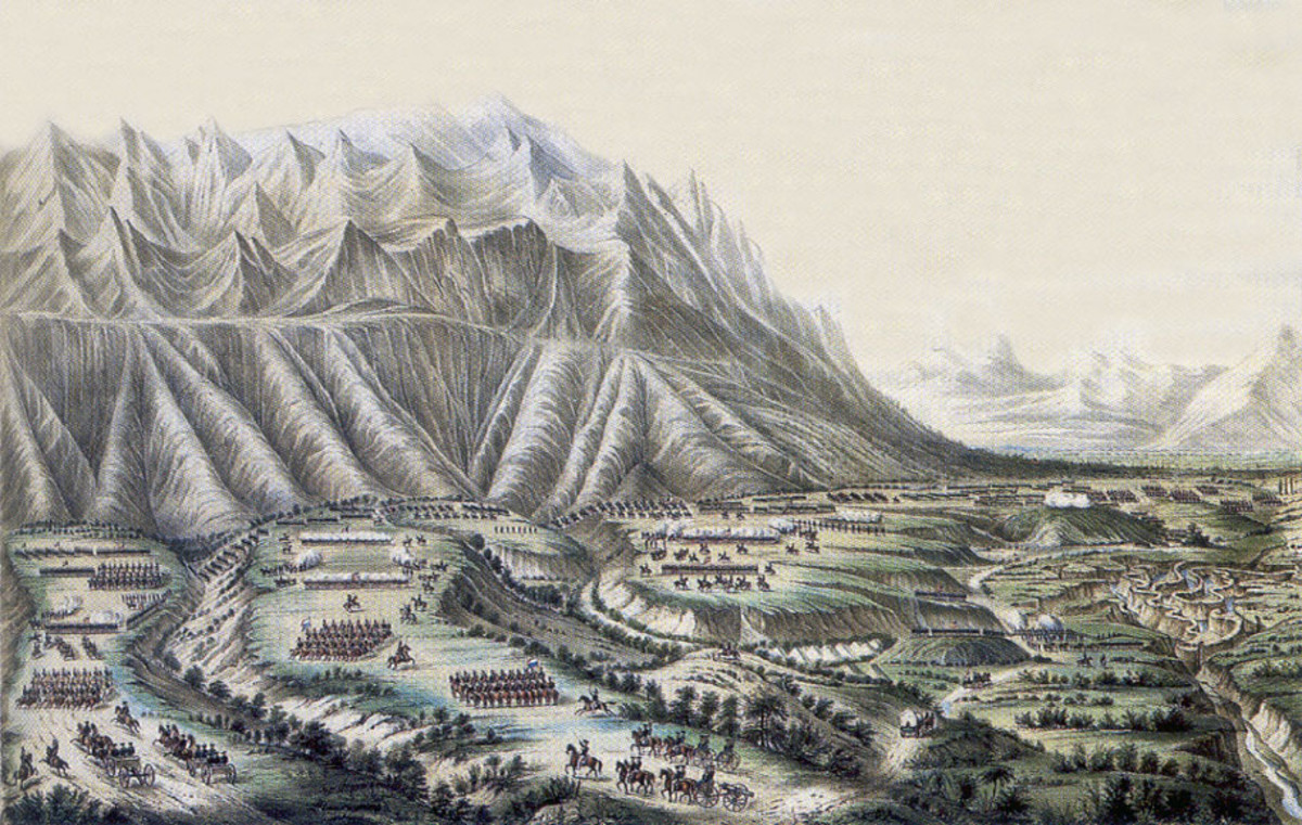A good period depiction of the large plateau and the ravines at the foot of the Sierra Madres