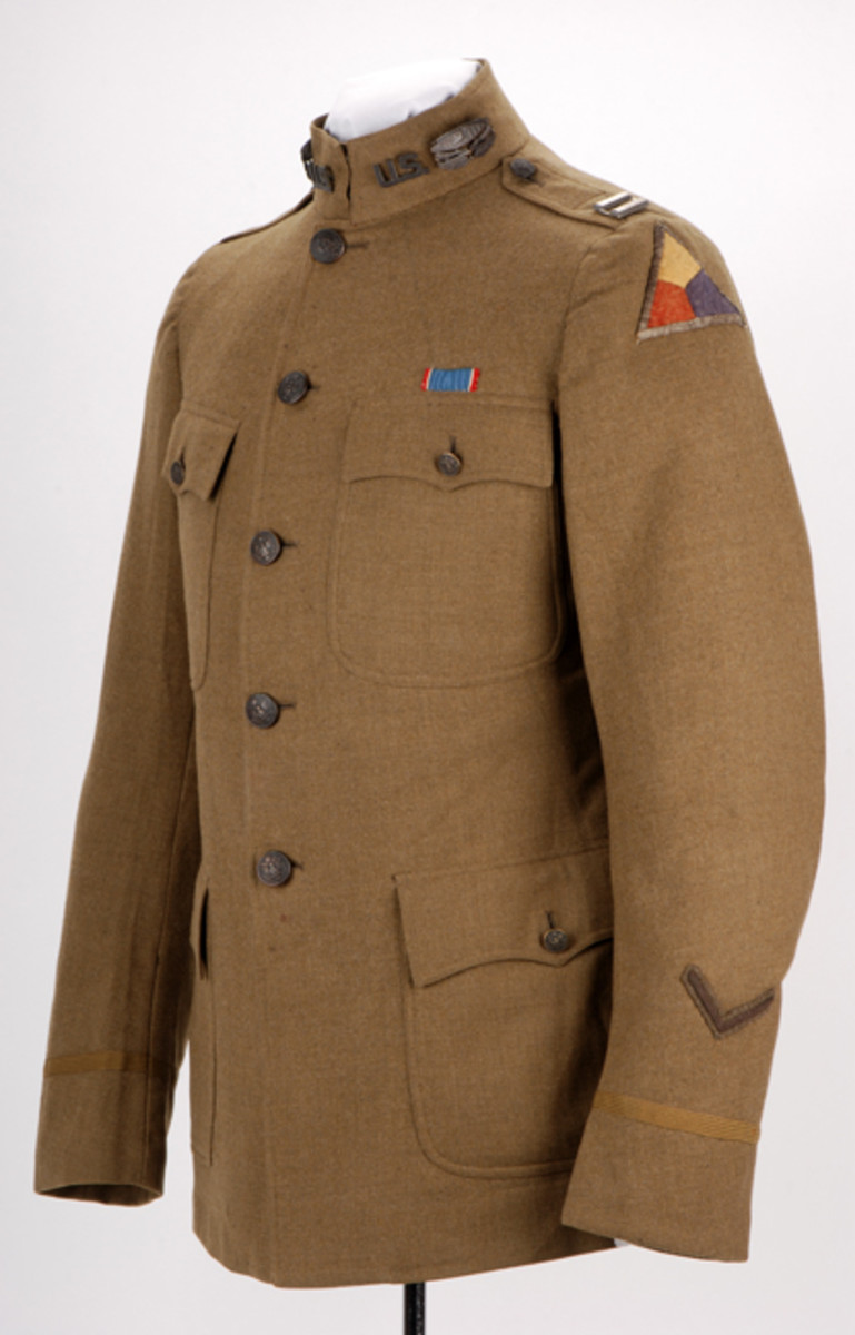 Tailor-made tunic once belonging to DSC-recipient, Captain Newell Phipps Weed.