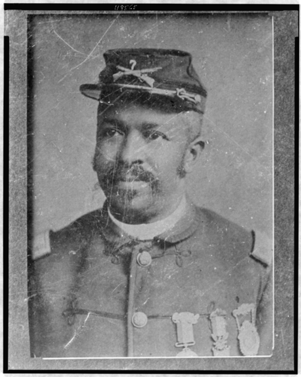Sgt. Maj. Christian A. Fleetwood of the 4th United States Colored Cavalry received the nation's Medal of Honor for his courageous actions in the Battle of New Market Heights near Richmond. New Market Heights is one of nine Civil War sites to be awarded a 2018 grant from the Virginia Battlefield Preservation Fund, the Virginia Department of Historic Resources . LIBRARY OF CONGRESS