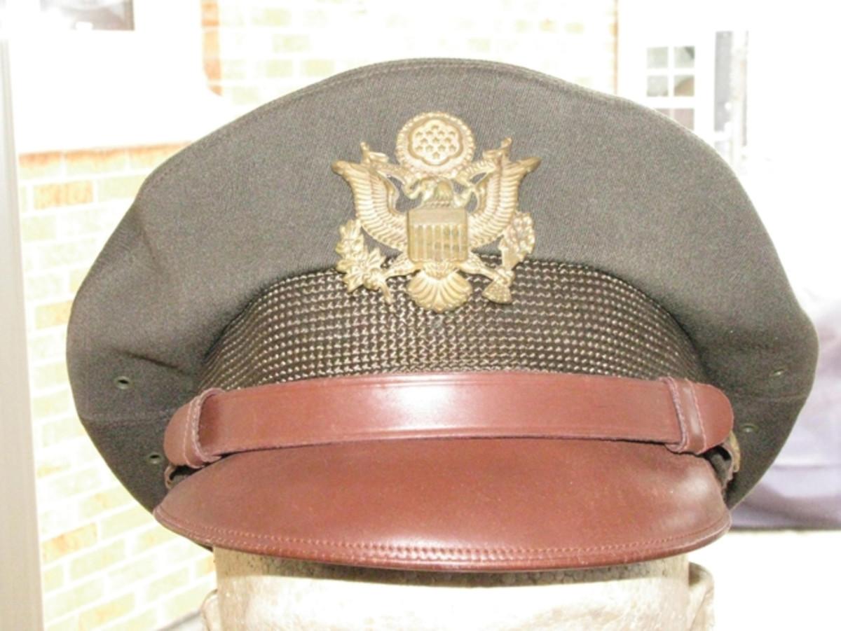 Lt. Phillip Whalen's Bancroft officer's crusher-style cap.
