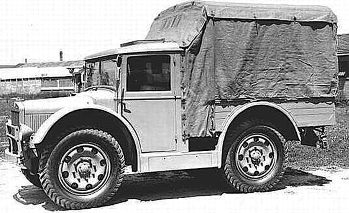 The Fiat SPA AS-37 was developed in 1937 to be used by the Italian Armed Forces in the North African desert. The vehicle's four-wheel drive and large wheels were well suited to a desert environment, and many served as ambulances.
