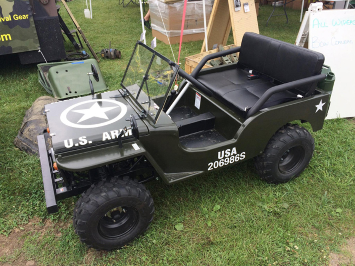 "The ""Meep"" (short for ""My Jeep"") is a pint-size world of fun. Imported by MVPartStore.com, the fully operational vehicle can be delivered to the door of any US location for around $2750. John Gunnell photo"