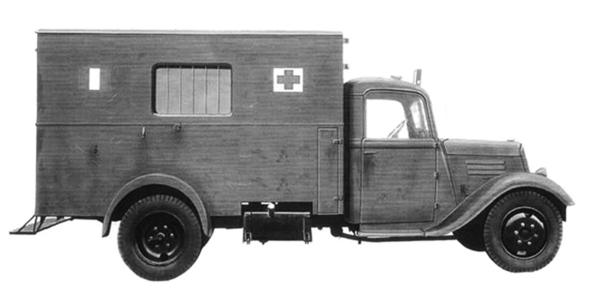 A dedicated ambulance model of the Citroën Type 23.