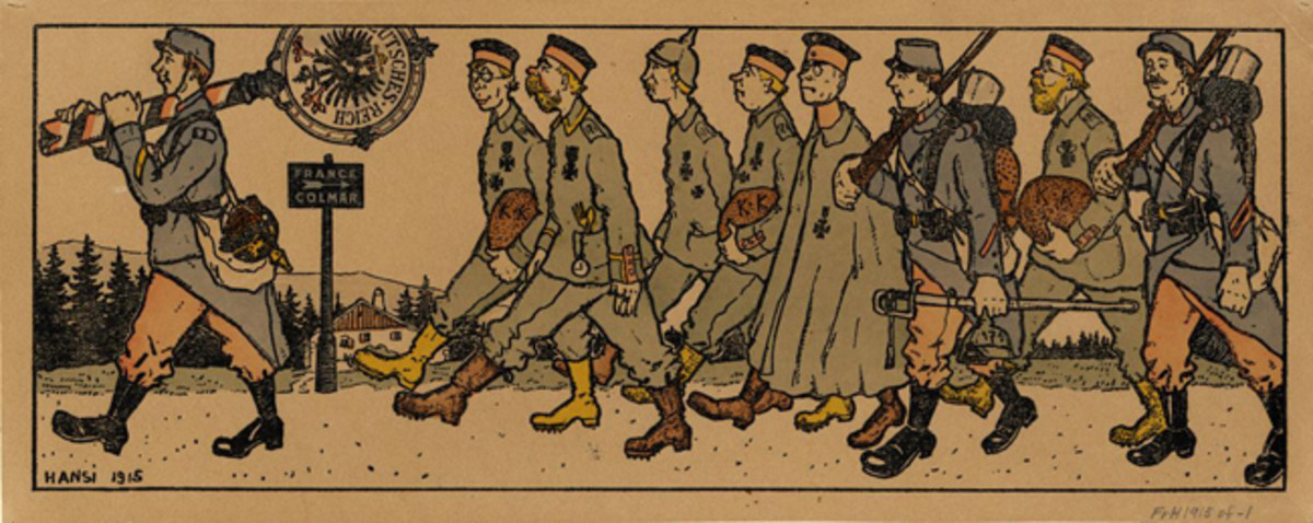 French soldiers by Hansi