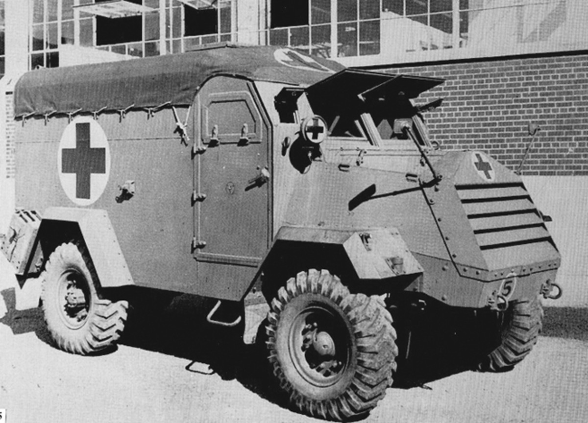Although the Geneva Conference of 1929 mandated humane treatment of wounded combatants and exempted properly designed and marked vehicles from being fired upon, the heat of battle, random fire, and artillery barrages made no such exceptions, so armored ambulances were developed, such as this CMP design.