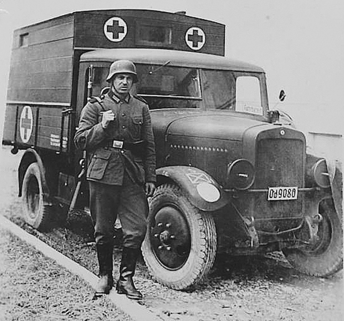 As per the Geneva Rules Of Engagement, German ambulances, like those of Allied Forces, were well-marked as such.