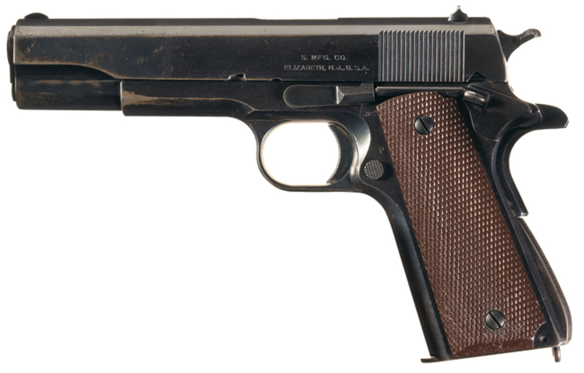 "Rare Collectors Firearms Auctions ""> World War II Singer Manufacturing Company U.S. Model 1911A1 Semi-Automatic Pistol"