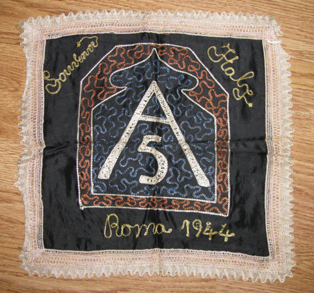 The Second World War created an explosion of G.I. souvenirs, such as this 5th Army cover from Italy.