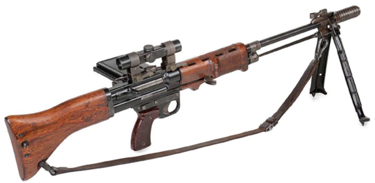 Kreighoff Waffenfabrik FG42 German Paratrooper's Machine Gun - sold for $143,750.
