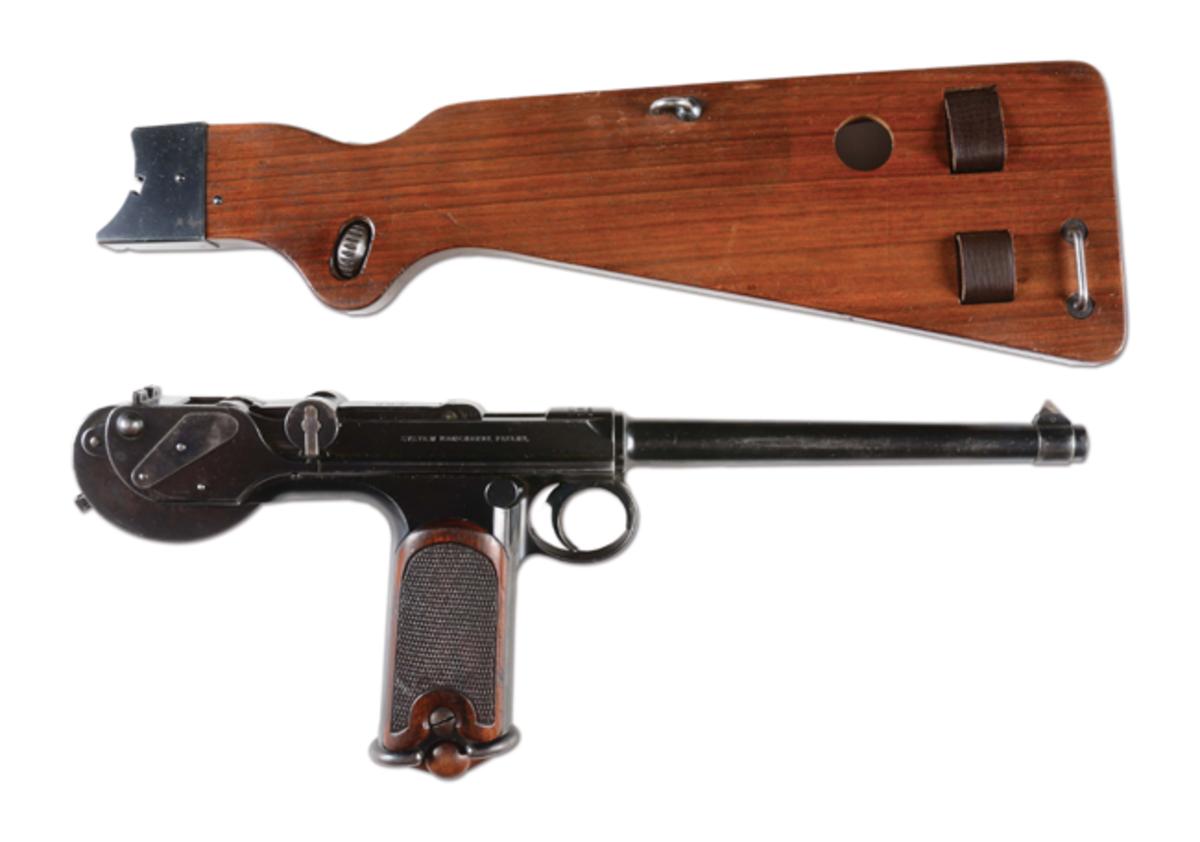 Waffenfabrik Loewe C93 Borchardt semi-automatic pistol, one of four Borchardts in the sale. Est. $15,000-$20,000