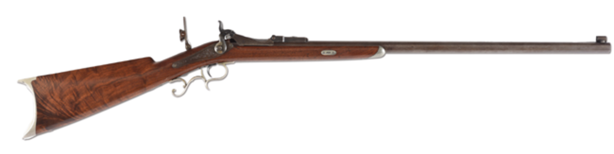 Historically important Colt Berdan engraved trapdoor rifle with Serial No. 1, prototype designed and manufactured for the Russian government. Est. $50,000-$75,000