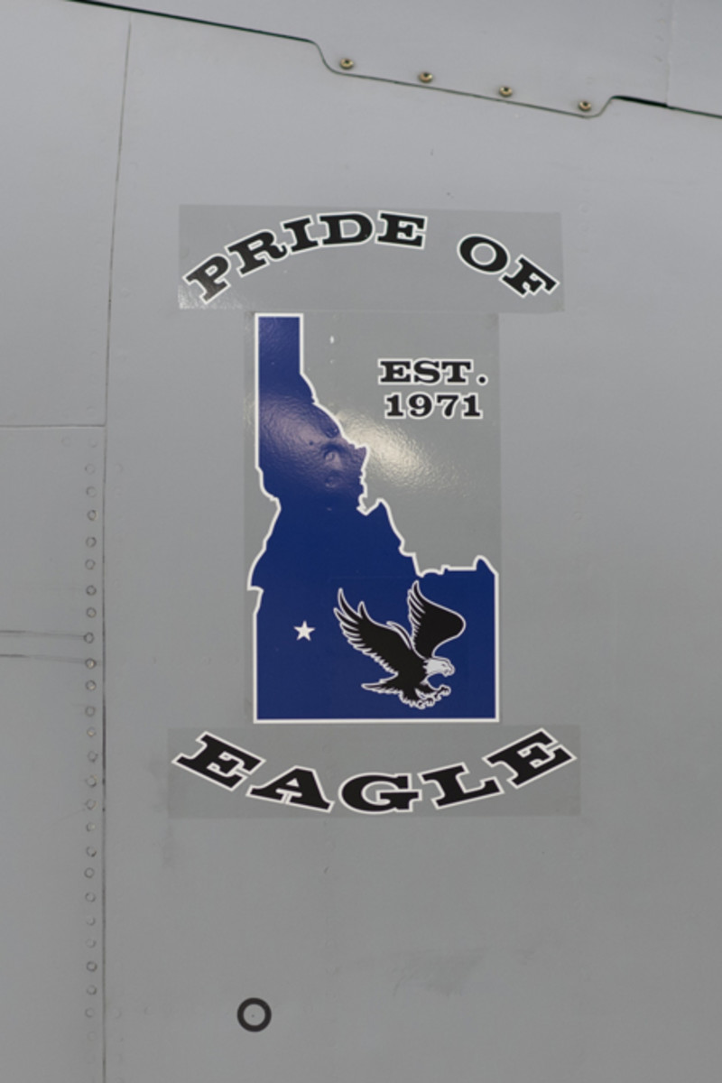 """An aircraft dedication ceremony was held Jan. 29, 2016, at Gowen Field, Boise, Idaho. During the ceremony both the """"Pride of Eagle"""" and the """"Pride of Kuna"""" were unveiled to civic leaders, civilians and military members. (U.S. Air National Guard photo by Tech. Sgt. Joshua C. Allmaras/Released)"""