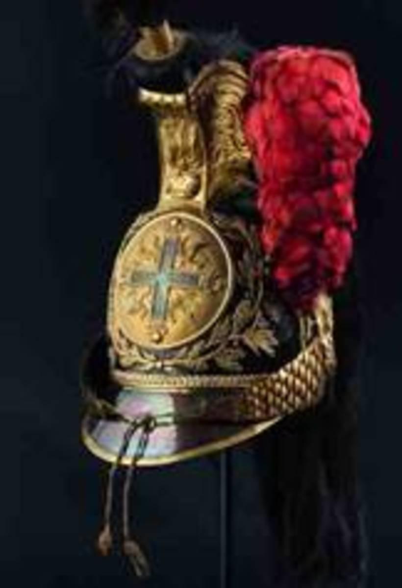 A helmet for ratings of the Mousquetaires gris de la Maison du Roi, 1814/15. HP: 12500 Euros