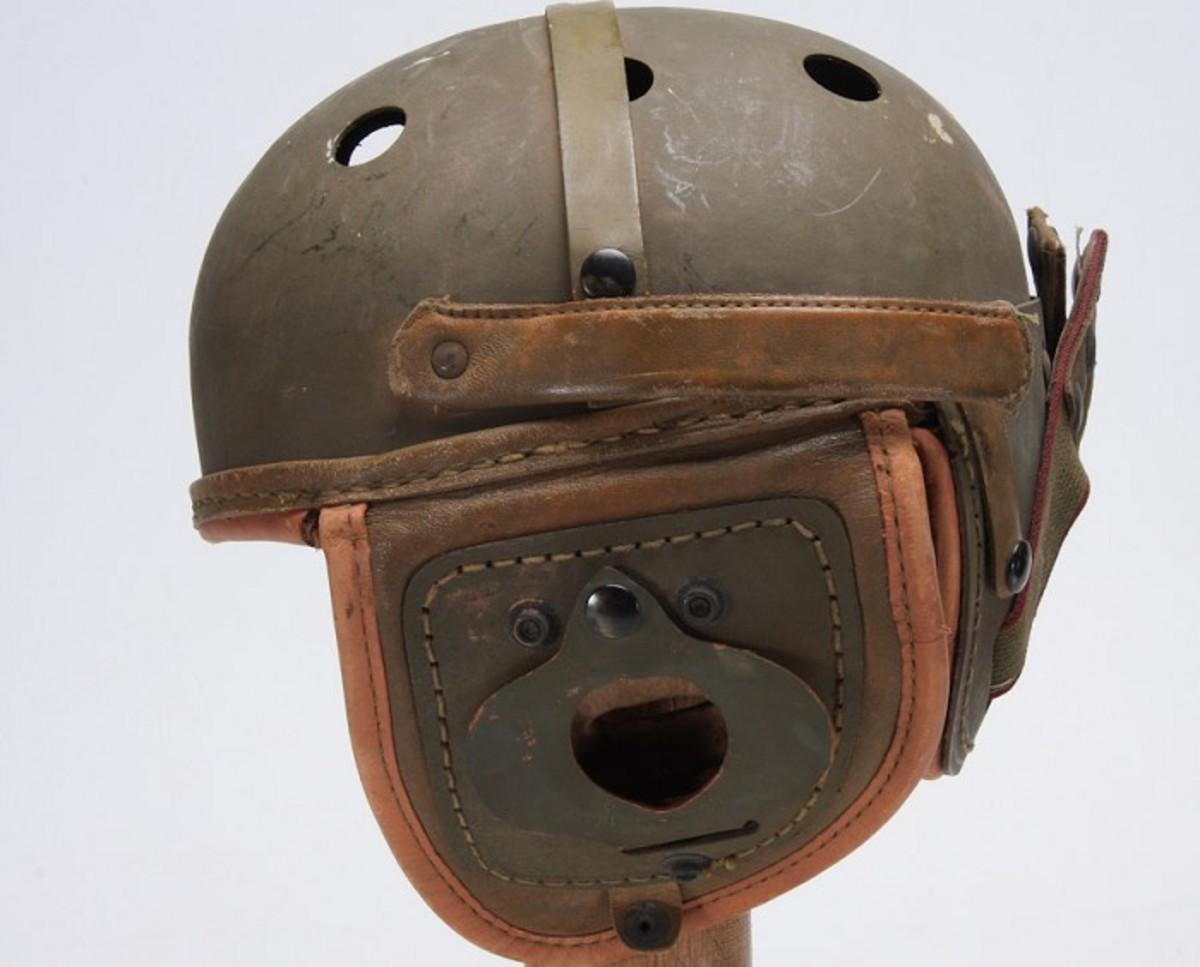 WWII US Armored Crewman 'Tanker' Helmet