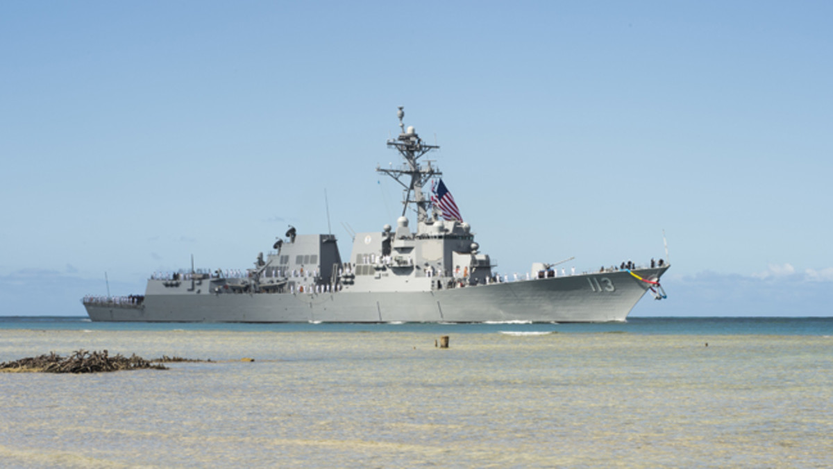 PEARL HARBOR (July 10, 2017) The future Arleigh Burke-class guided-missile destroyer USS John Finn (DDG 113) arrives at Joint Base Pearl Harbor-Hickam in preparation for its commissioning ceremony. DDG 113 is named in honor of Lt. John William Finn, who as a chief aviation ordnanceman was the first member of our armed services to earn the Medal of Honor during World War II for heroism during the attack on Pearl Harbor. (U.S. Navy photo by Mass Communication Specialist Randi Brown/Released)