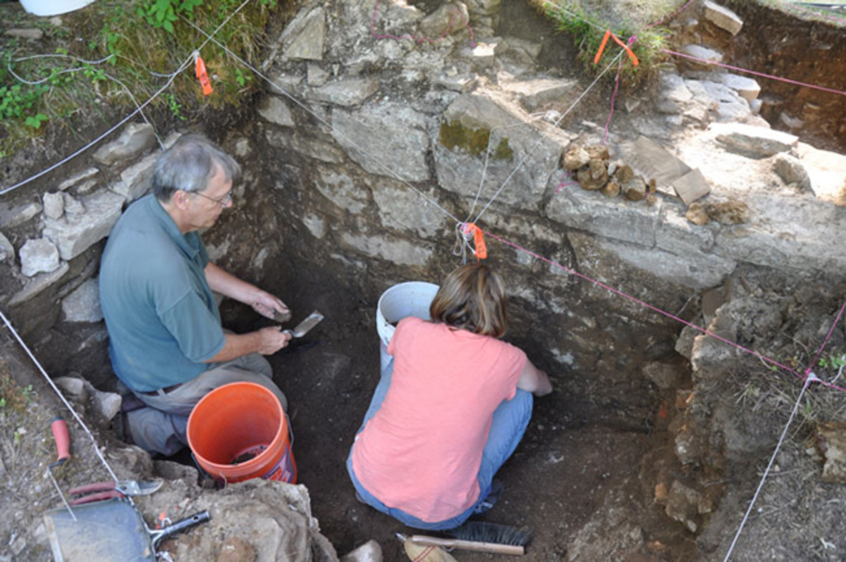 LAKE GEORGE, NEW YORK—An ongoing project at the Lake George Battlefield Park site has uncovered sections of a stone wall that project lead archaeologist David Starbuck believes belong to a British fort dated to 1759, reports the Bradenton Herald. After the capture of Fort Ticonderoga by the British in that year, however, Jeffrey Amherst, the commander of British forces in North America, halted construction of the large fort, and it was never completed. For Starbuck, uncovering stone walls six feet high and up to five feet thick was entirely unexpected. In addition to the sections of wall, the team has uncovered musket balls, gun flints, and also pottery dating to the period.