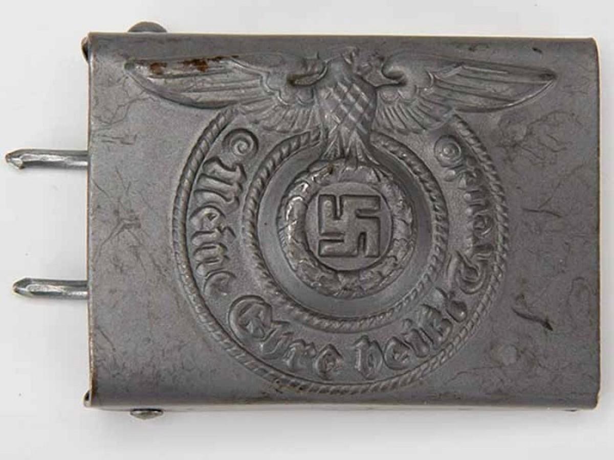 Waffen SS Steel Belt Buckle, Assmann