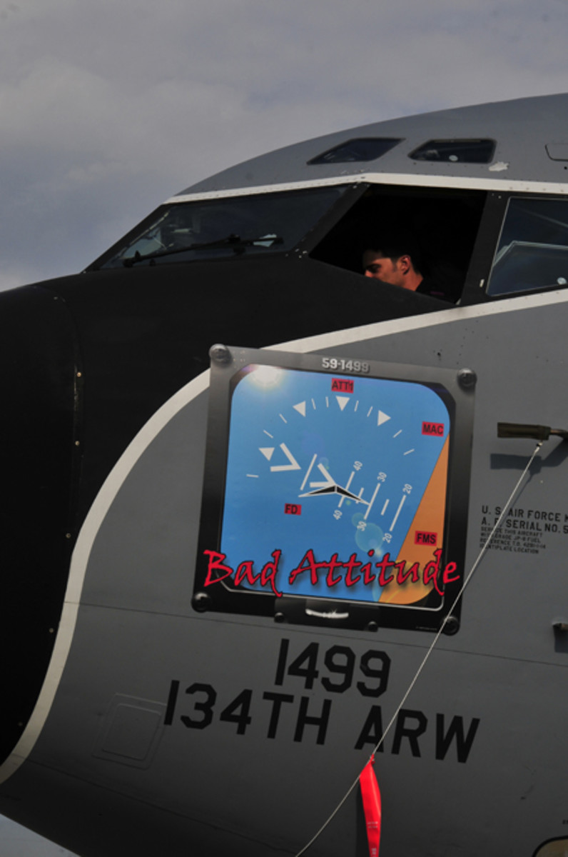 One of the many colorful designs on the KC-135R Stratotanker at McGhee Tyson Air National Guard Base, Tennessee (photo by Master Sgt. Kendra Owenby, 134 ARW public Affairs/released)