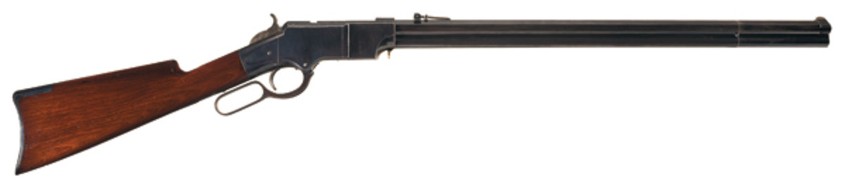 LOT 3100: The Finest Iron Frame Henry Lever Action Rifle in Existence. SOLD: $603,750.