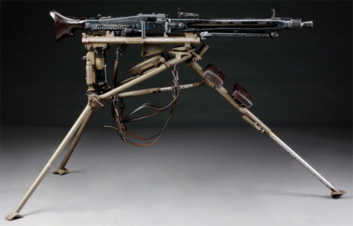 Superb and iconic German World War II Mauser MG42 machine gun, 1944 manufacture. Nazi proof marks. Est. $35,000-$55,000