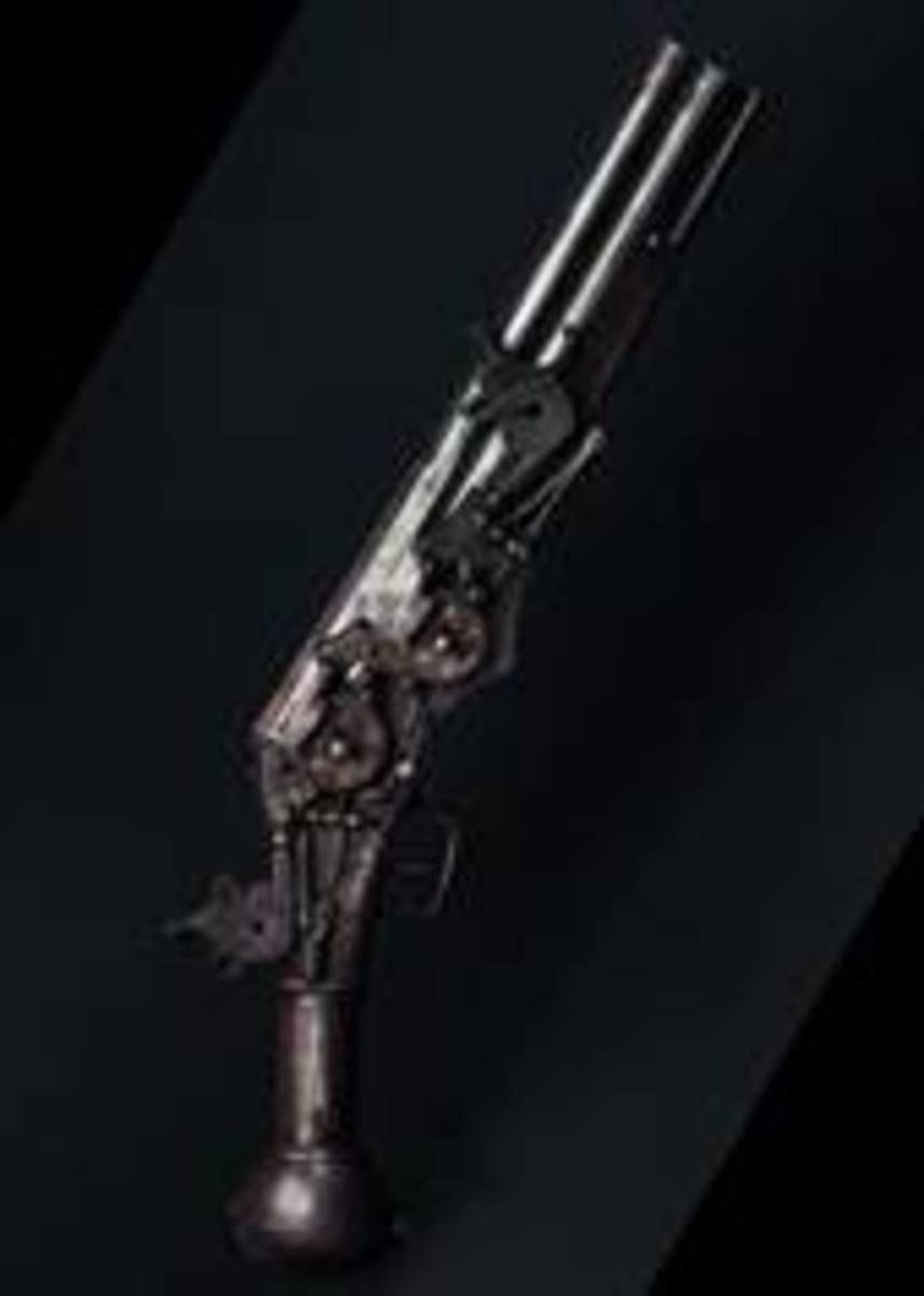 A two-shot all-metal wheellock pistol, Nuremberg, circa 1580. HP: 25000 Euros