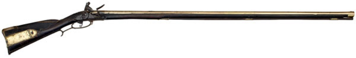 Early Brass Barrel Kentucky Rifle Dated 1771, Attributed to Hans Jacob Honaker, Frederick County, Virginia. (Estimate $275,000-$350,000)