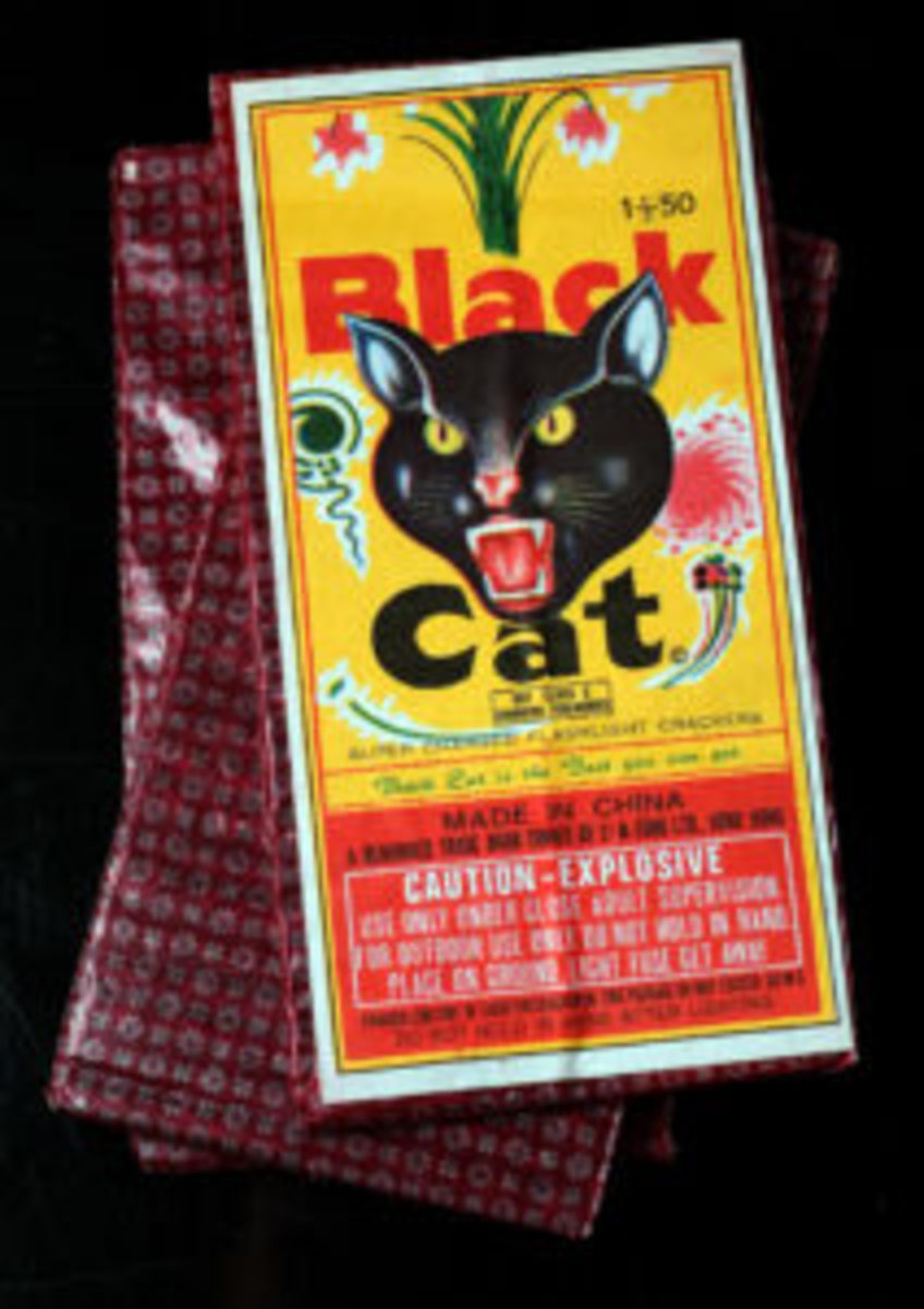 Those of you old enough will remember the red cellophane wrapper on black cats. You probably tore open the package in a way to preserve any powder. The fuses were all knotted together, requiring, patient, nimble fingers in order to not pull a fuse out of a firecracker!
