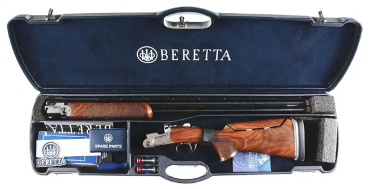 Cased Beretta DT 11 over-under 12-gauge shotgun. Image - Morphy Auctions