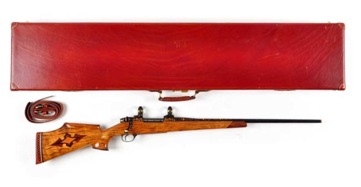 Deluxe Gold Inlaid Engraved Weatherby Rifle