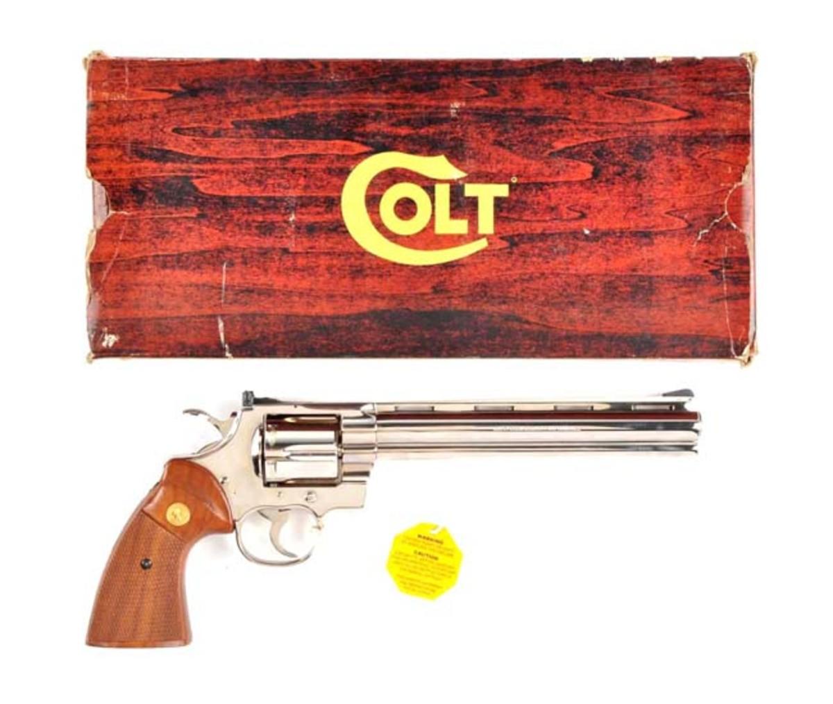 Boxed Colt Nickel Python Target