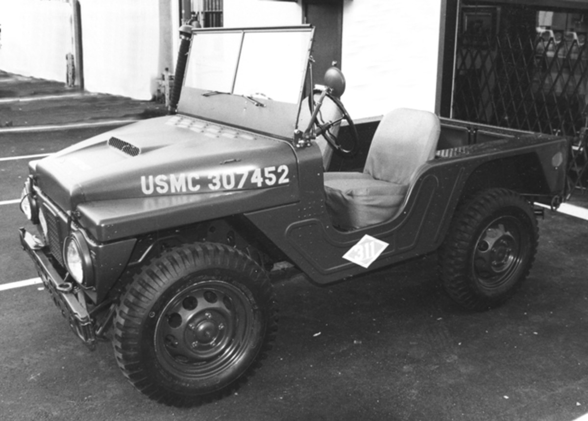 The most apparent difference between the the M422 and the M422A1 models was the six inches additional body length between the front seat and the rear wheel well found on the latter. The additional reinforcing embossment in this area which is clearly visible on Darryl Bensinger's M422A1, aids in distinguishing the vehicle.