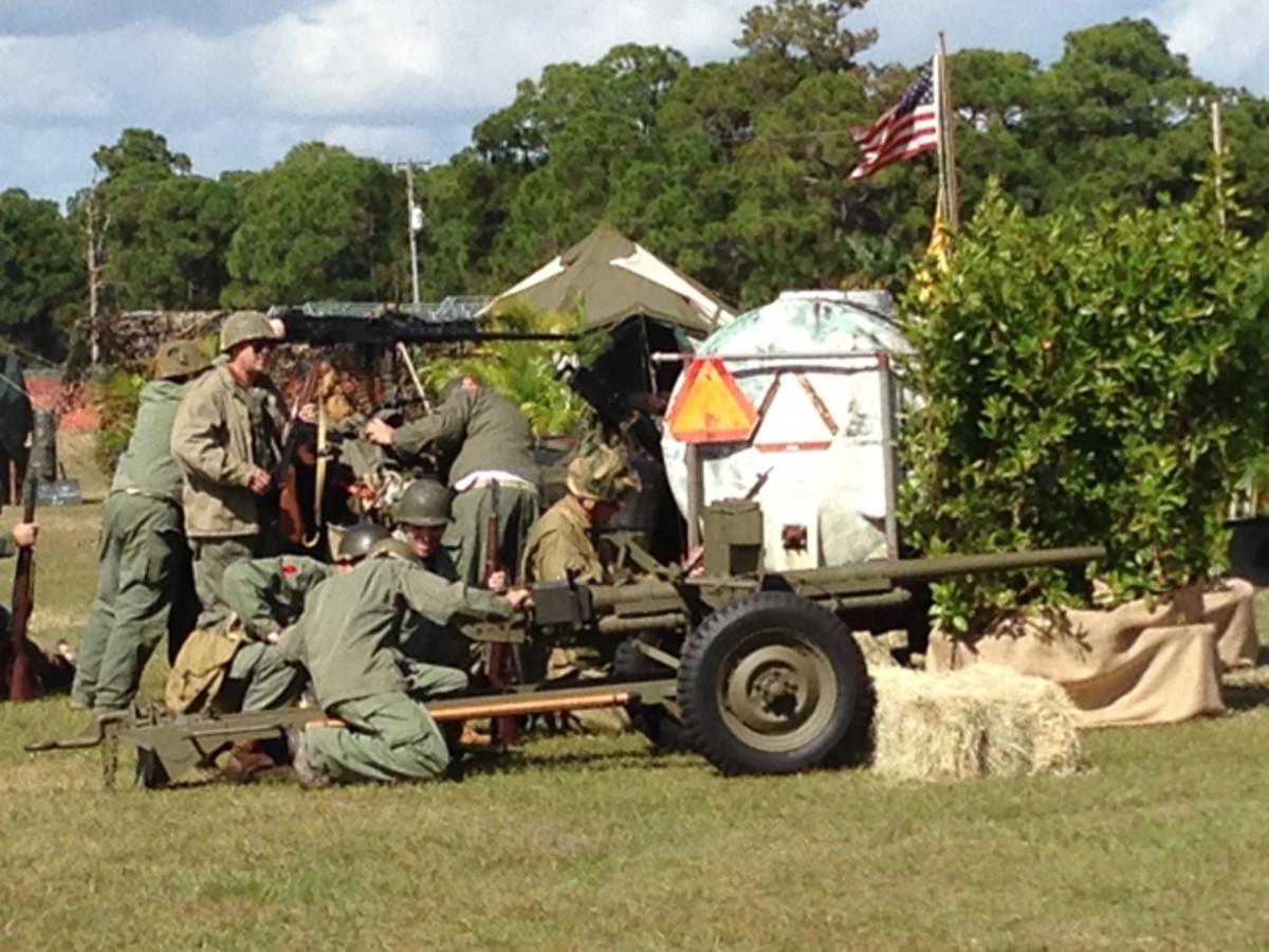 37mm Anti-Tank gun engaging in re-enactor battle