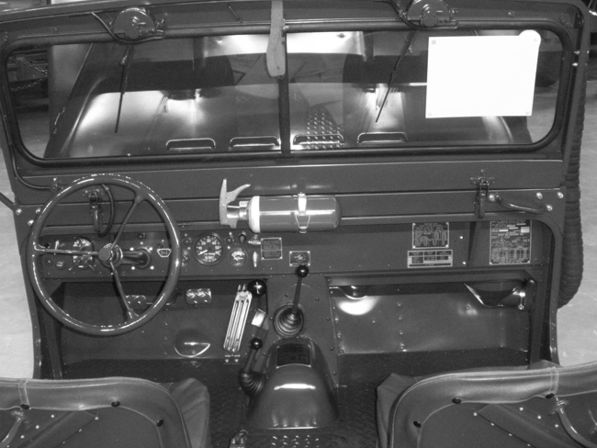 The Spartan instrument panel of the Mighty-Mite featured a fuel gauge, speedometer, ammeter, and oil and engine overheating warning lights in the center of the dash. John Adams-Graf photo