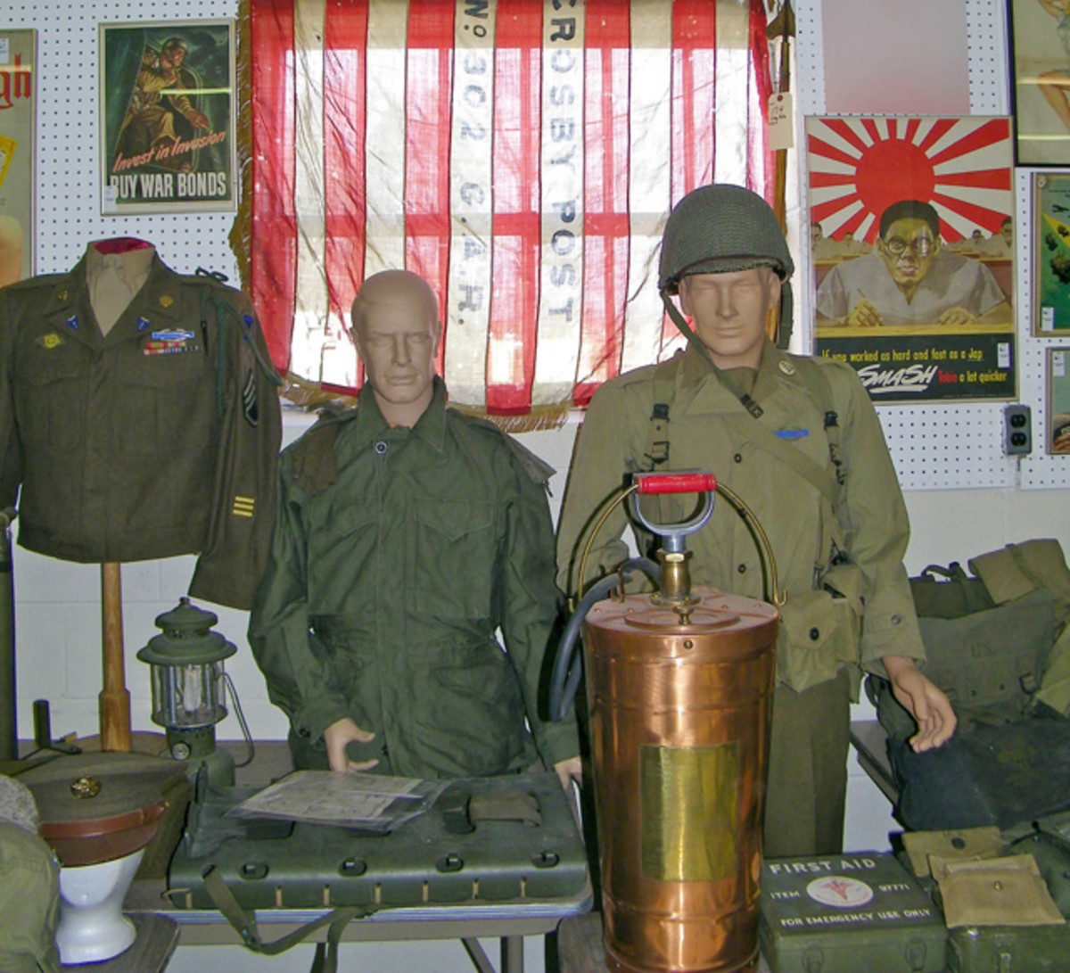 Military uniforms and coveralls saw strong prices.